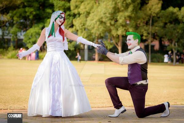 Injustice Harley Quinn Cosplay Bride And Joker By ScarletMoonstorm