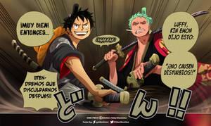 Luffy y Zoro // One Piece Ch912 by goldenhans