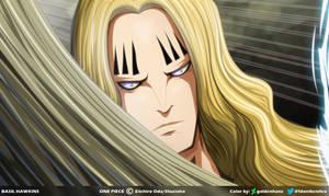 Basil Hawkins: Warabide Sword // One Piece Ch913 by goldenhans