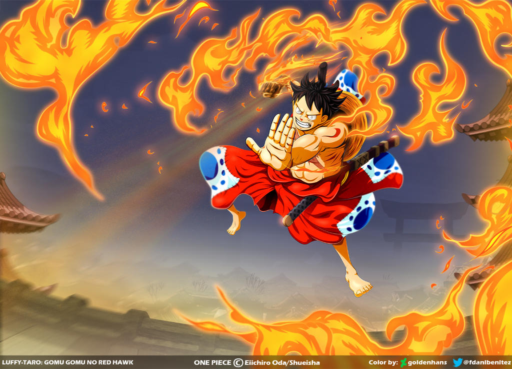 Luffy Gomu Gomu No Red Hawk One Piece Ch917 By Goldenhans On Deviantart