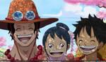 Tama Ace y Luffy by goldenhans