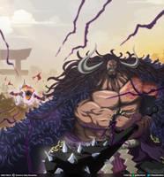 Trueno divino // One Piece Ch923 by goldenhans