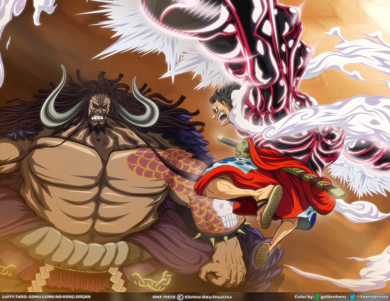 Wallpaper Kaido And Luffy By Goldenhans On Deviantart