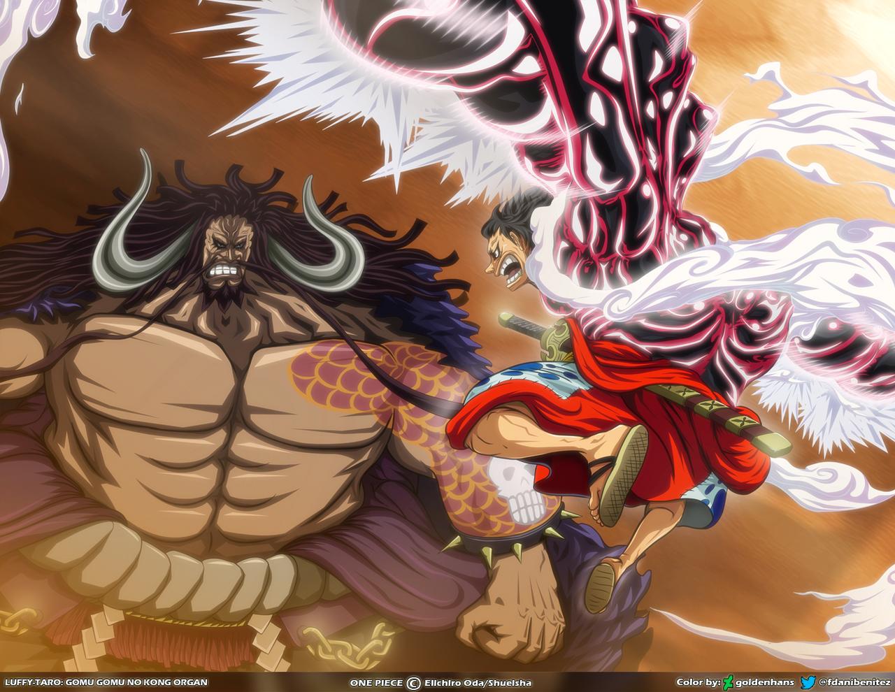 Wallpaper Kaido And Luffy By Goldenhans On Deviantart