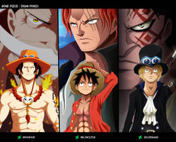 Collab One Piece - Hermanos y la voluntad heredada