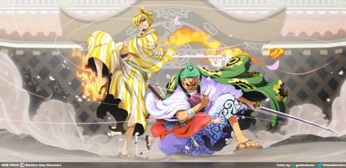 Zoro y Sanji salvan a Toko  // One Piece Cap. 943