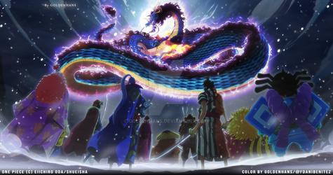 One Piece cap. 987 // Kaido vs Los 9 Vainas Rojas