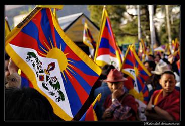 Tibetan protest by Shahenshah