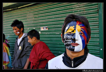 Tibetan Protest II by Shahenshah