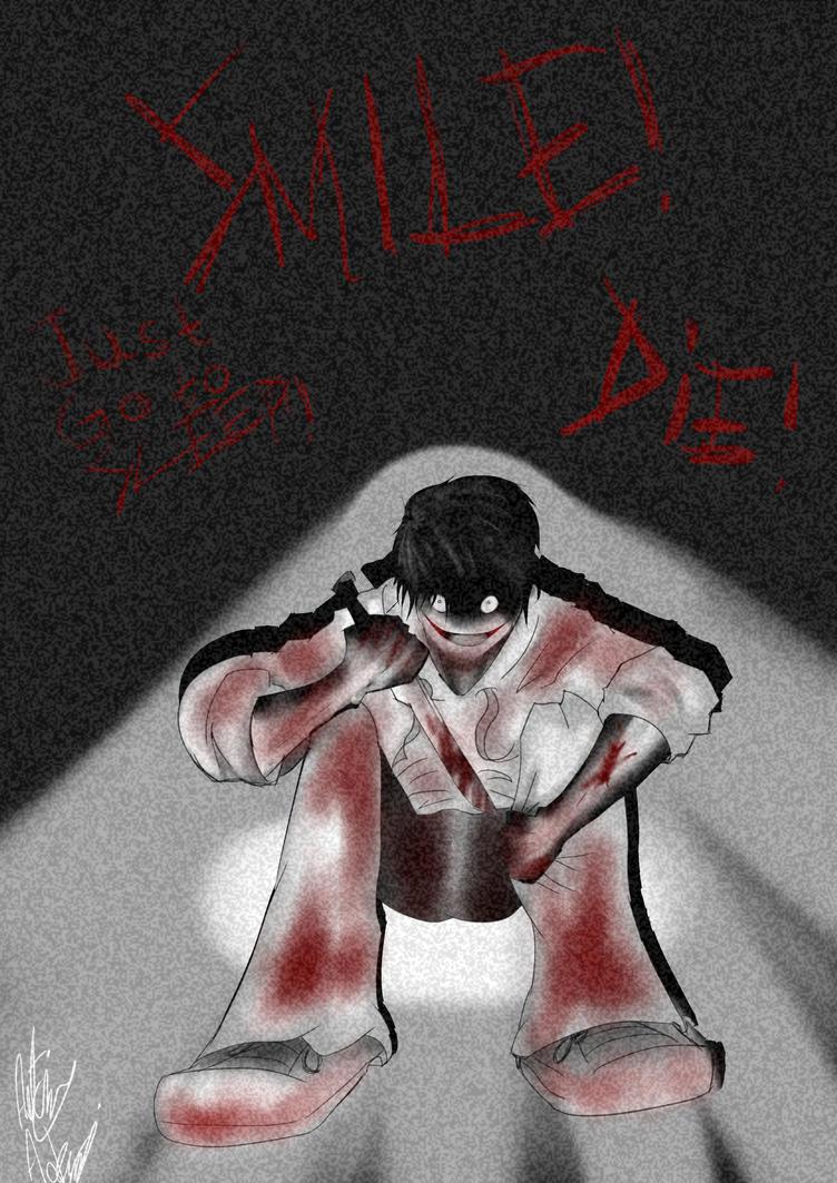 Jeff the killer (redraw digital) by Xkosovox