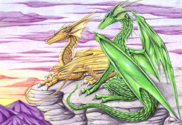 Caliburn and Farlorn by Theerya