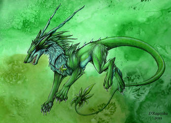 Forest creature by Theerya