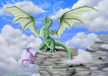 Green Dragon by Theerya