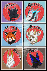 Okami-style badges batch by Theerya
