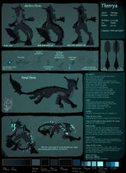 Theerya - my fursona reference sheet 2019 by Theerya