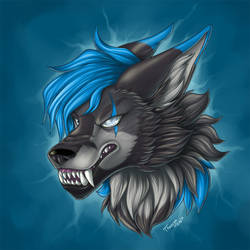 Headshot commission - Wolvar