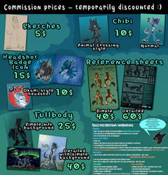 Commission prices - discounted temporarily