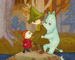 Moomin and friends