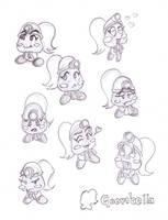 Mario's Friends - Goombella by Nico--Neko
