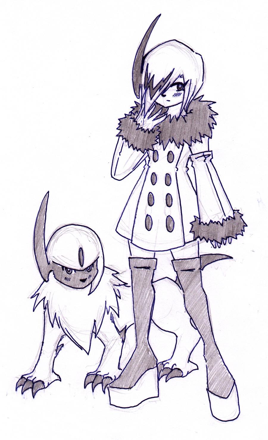 Absol - Human and Pokemon by kamon-san on DeviantArt