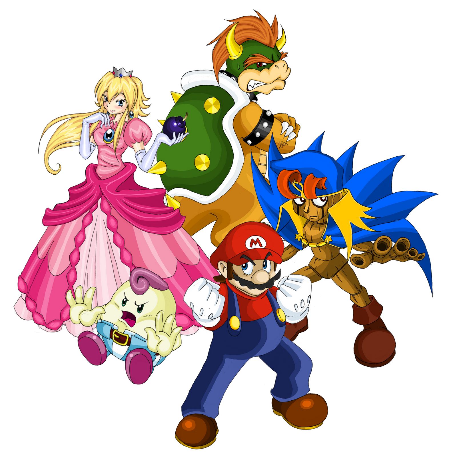 Super Mario RPG - Five Heroes by kamon-san