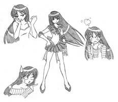 Sailor Mars - Sketches