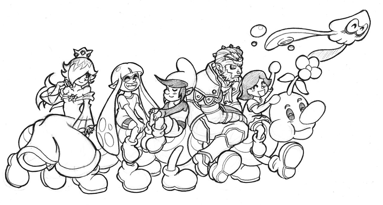 Super Mario Maker By Nico Neko On DeviantArt Crew Let S Go Kamon San D9at25o Drawing Colouring