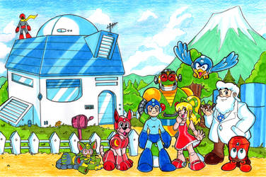 Mega Man - Like Family by Nico--Neko