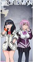 SSSS Gridman - Rikka and Akane by Nico--Neko