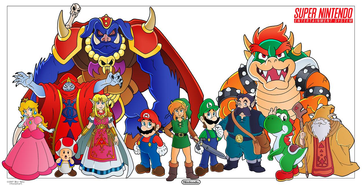 Mario and Zelda - SNES Tribute by Nico--Neko on DeviantArt