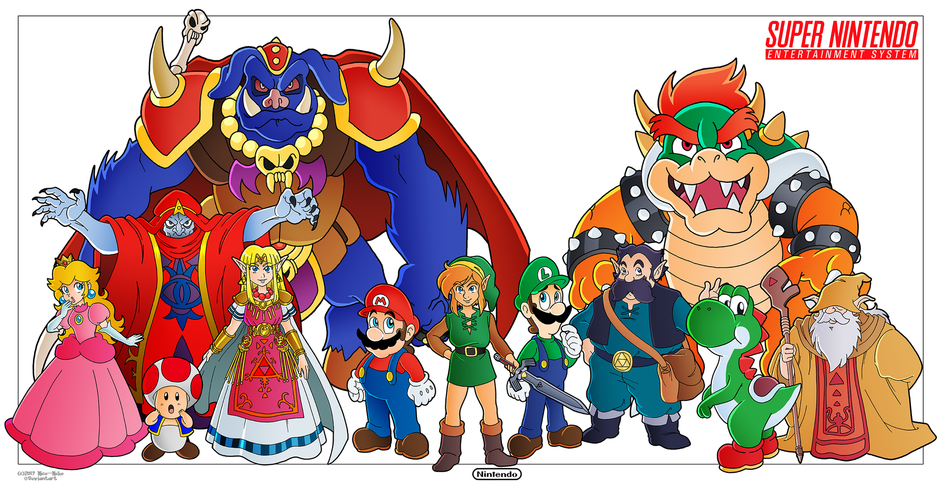 Mario and Zelda - SNES Tribute by Nico--Neko on DeviantArt