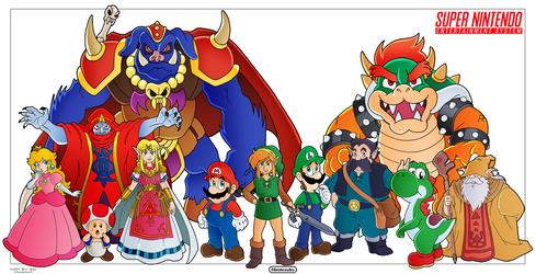 Mario and Zelda - SNES Tribute by Nico--Neko