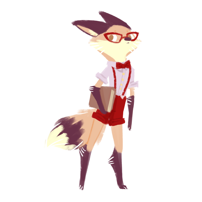 hipster fox (f) by saracastically - 149.6KB