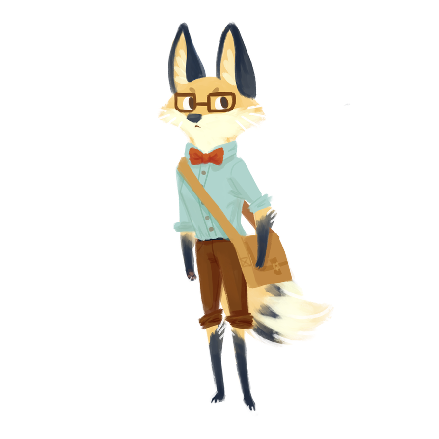 hipster fox (m) by saracastically - 37.6KB