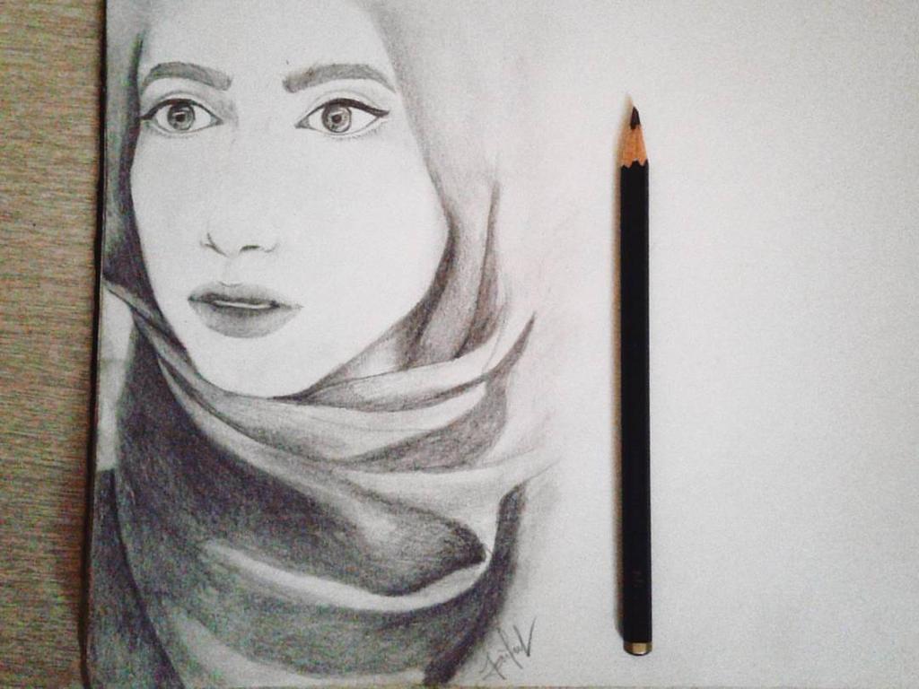 hijab girl by lutiaz