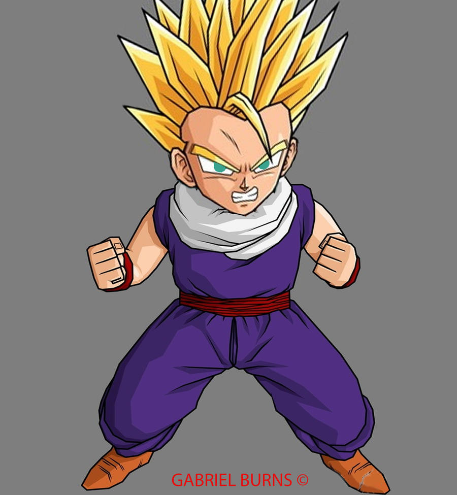 Kid gohan ssj by gman130794 on deviantart - Dragon ball gohan super saiyan 4 ...