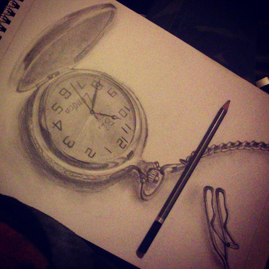 The gallery for --> Traditional Pocket Watch Drawing