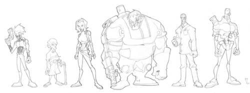 Shadowguard lineup by WillCaligan1