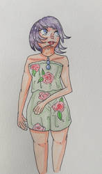 Floral Fashion - Original Watercolor by Managodess