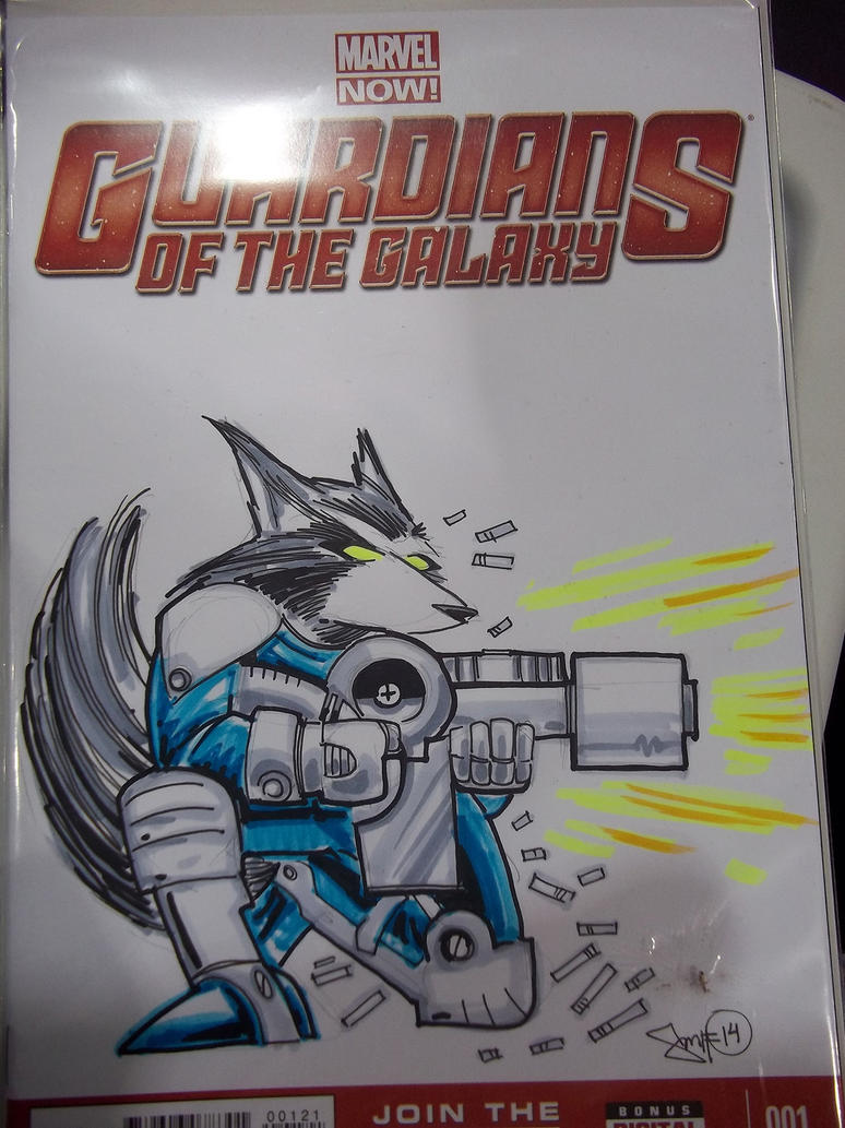 Rocket Raccoon Sketch Cover by smifink on DeviantArt
