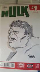 Hulk sketch cover by smifink