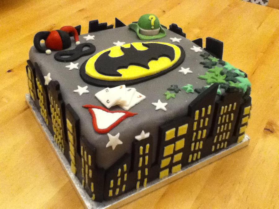Batman Birthday Cake  By CharleyBlue On DeviantArt - Dark knight birthday cake