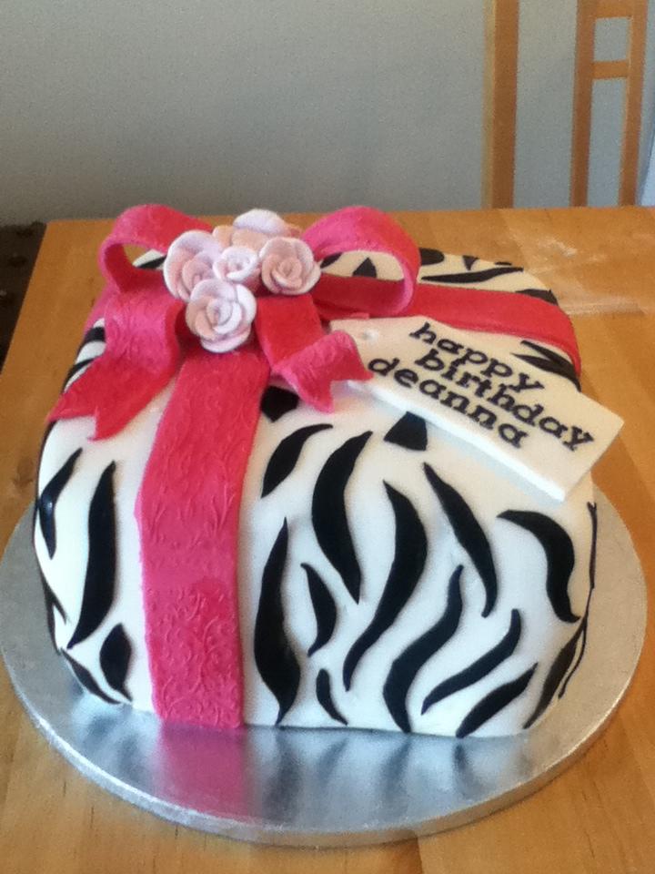 Zebra print birthday cake by Charley Blue on DeviantArt