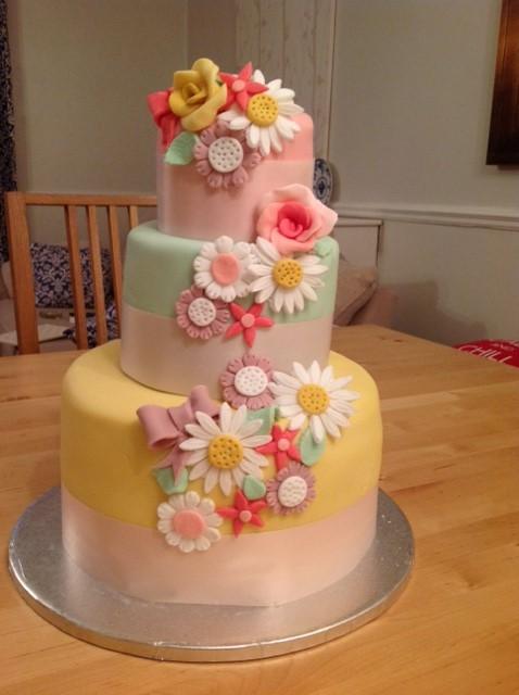 Spring Flowers Birthday Cake by CharleyBlue on DeviantArt