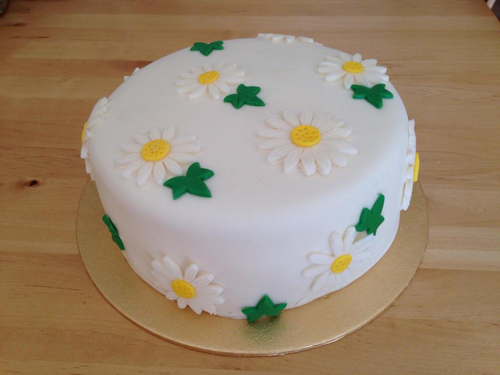 Daisy Birthday Cake By Charley Blue On Deviantart