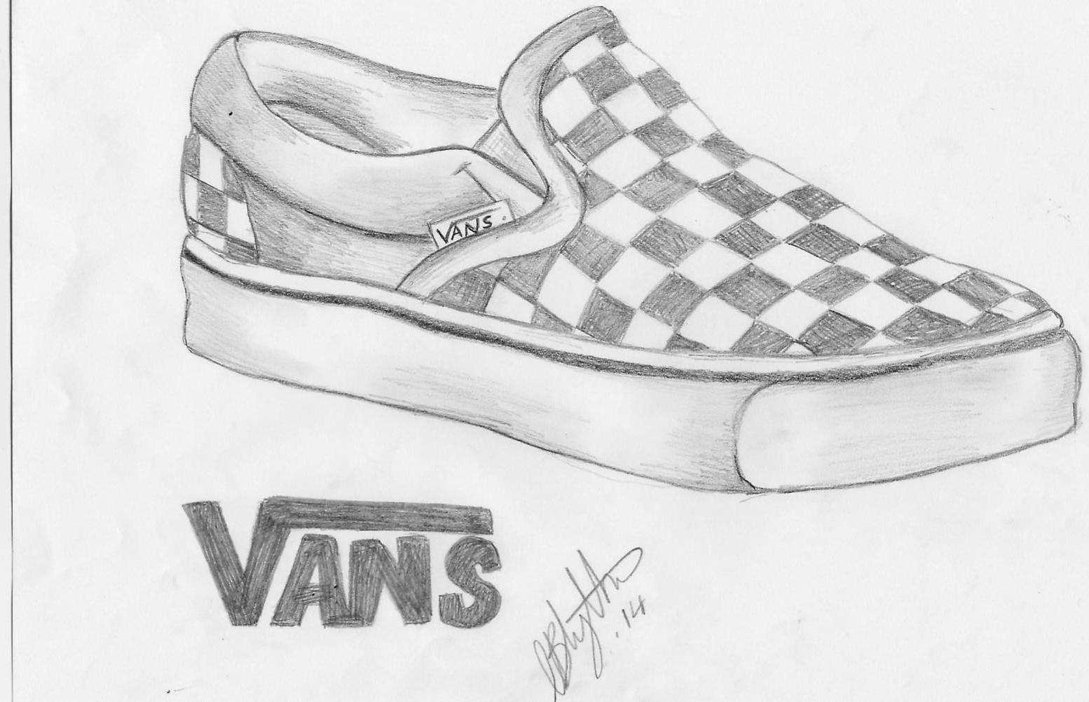 Simple Shoes Drawing