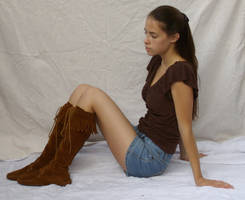 Shorts and Boots ::Stock 4:: by spiked-stock