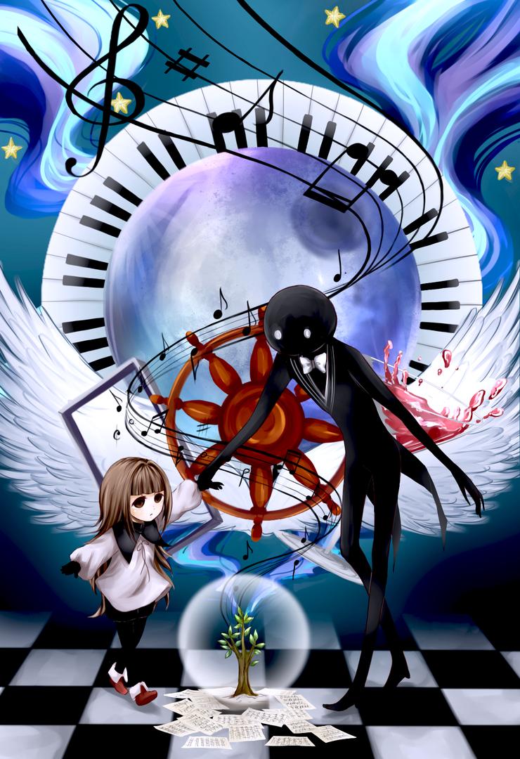 Deemo and the little girl by MikiTakamoto