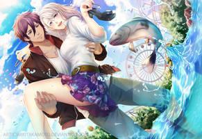CM: Hiroko and Kuga by MikiTakamoto