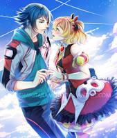 CM: Hayate and Freyja by MikiTakamoto